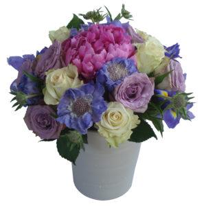 bouquet bleu pastel