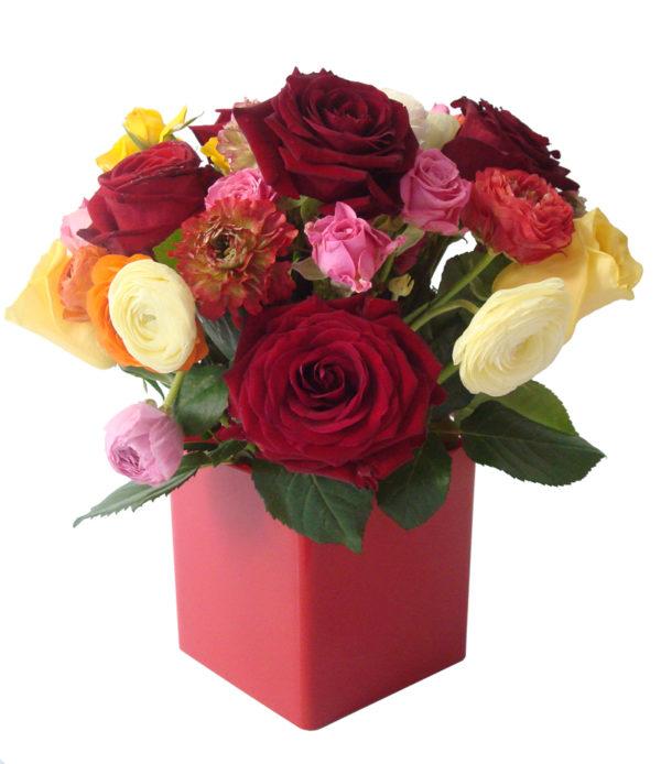 bouquet multicolore