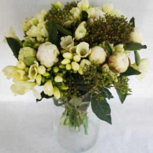 bouquet freesia et pivoines