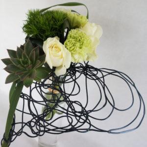 bouquet cœur noir