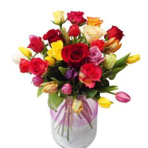 roses et tulipes La Jardinera