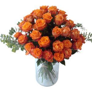 bouquet roses oranges
