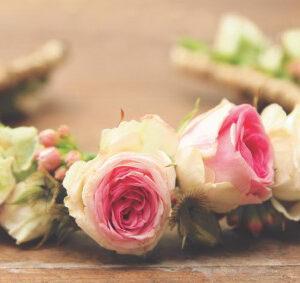 couronne de roses pour mariage
